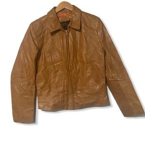 Vintage 70s Casablanca Fitted Leather jacket 40